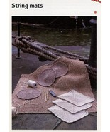 String Mats Floor & Table Cavendish Crochet PATTERN/Instructions Leaflet... - $0.90