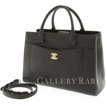 CHANEL Handbag Caviar Leather Black Neo Executive 2Way A69930 Italy Auth... - $2,815.15