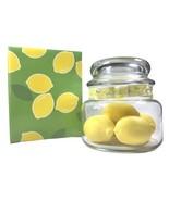 Vintage 1984 Avon CITRUS FRESH 5 Lemon Shaped Soaps in Glass Jar -NEW (s... - $22.40