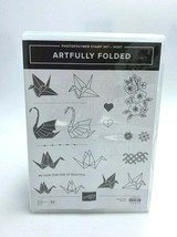 Stampin Up Artfully Folded Host Gift Photopolymer Stamp Set Crane Heart - $12.99