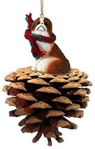 Conversation Concepts Japanese Chin Red & White Pinecone Pet Ornament - $14.99