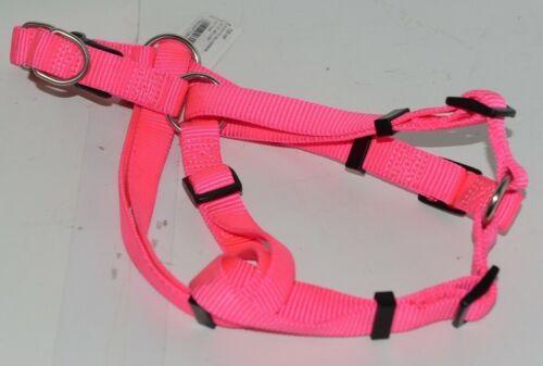 Valhoma 735 HP 3/4 inch Quick Fit Adjustable Dog Harness Hot Pink Medium Nylon