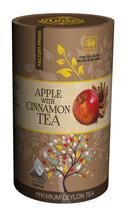 Lions Tea Apple with Cinnamon, Pure Ceylon Black Tea 15 Pyramid Tea Bags - $8.75