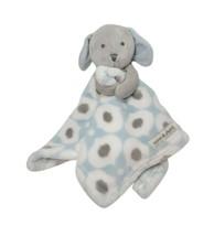 Blankets & Beyond Blue Gray Bunny Security Blanket Lovey White Fleece Ra... - $23.22
