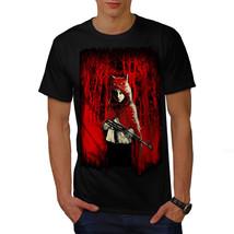 Girl Hunter Wild Fantasy Shirt Scary Wolf Men T-shirt - $12.99+