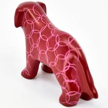 Vaneal Group Hand Carved Kisii Soapstone Red Standing Puppy Dog Figurine Kenya image 3