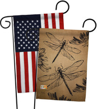 Dragonfly Burlap - Impressions Decorative USA - Applique Garden Flags Pa... - $30.97