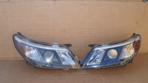 08-12 Saab 9-3 Halogen Headlight Lamps Set Pair L&R