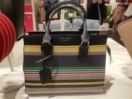 Kate Spade Cameron Street Boardwalks Stripe Colorful Handbag Medium Satc... - $171.78 CAD