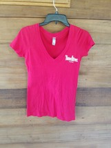 Three Olives Vodka Next Level Womens Size Small Red Fitted Tee AD - $21.36