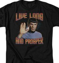 Star Trek Retro Sci-Fi Spock Live Long and Prosper graphic t-shirt CBS114 image 3