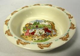 Royal Doulton Bunnykins Round Baby Plate Fishing at Pond English Fine Bone China - $15.83