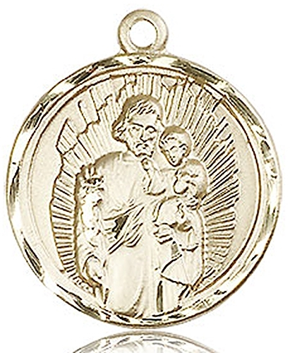 Primary image for ST. JOSEPH - 14KT Gold Medal - NO CHAIN - 0036K