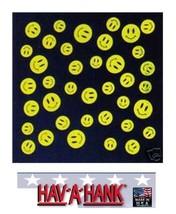 USA MADE Hav-A-Hank SMILE HAPPY SMILEY BANDANA Face Mask Neck SCARF Head... - $13.26