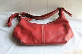 Coach Red Leather Adjustable Shoulder bag purse... - $41.81