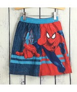 Spider Man Little Boys Swim Trunks Size 3T Mesh Lined Board Shorts Marve... - $8.99