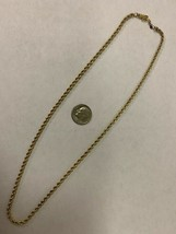 """Real Genuine 14K Yellow Gold 18"""" Rope Necklace Chain 13G 3mm with Box Clasp image 1"""