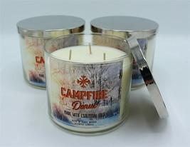 x3 Bath & Body Works Campfire Donut Large Three Wick Jar Candle 14.5oz - $59.99