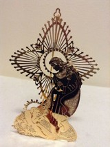 """Danbury Mint - 1989 Gold Christmas Ornament -  """"Mother and Child"""" (A9) - $14.95"""