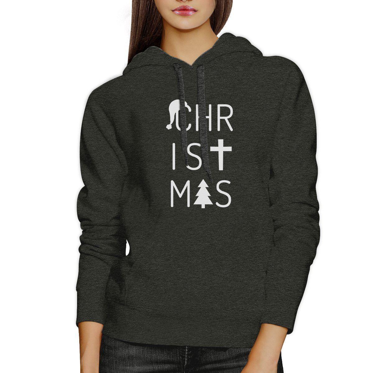 Christmas Letters Dark Grey Hoodie
