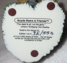 Boyd Bearstone Resin Bears Jeremy As Noah The Ark Builder Figurine #2426 7E image 4