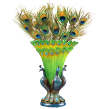 Grand Plumage Peacock Sculptural Vase - $98.95