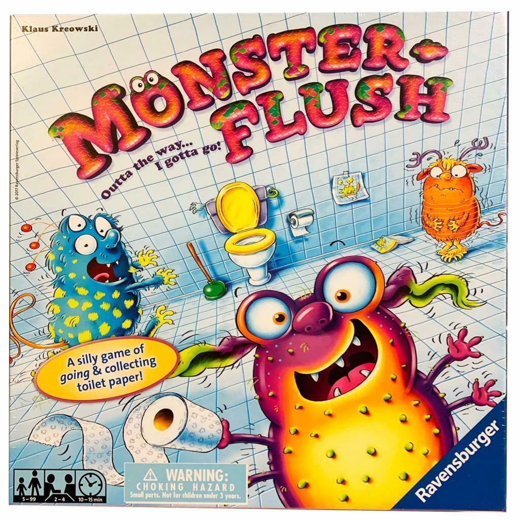 NEW IN BOX NIB Ravensburger Monster Flush Children's Board Game - $34.60