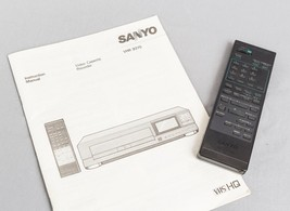 Sanyo TV VCR IR 9370 Remote Control & VHR 9370 Manual g10 - $8.90