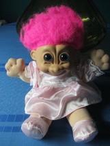 "Russ Troll Doll Pink Hair 12"" Soft Body - $17.99"