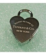 NEW Tiffany Return to Tiffany Heart Padlock Watch Pendant 4 Necklace, Br... - $581.47