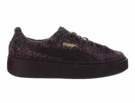 Womens Puma Suede Platform Elemental Maroon Winetasting Red Gold 362224-03 - $64.99