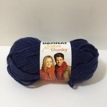 1 Skein Softee Chunky Yarn Bernat 3.5 oz Super Bulky Faded Denim Acrylic - $4.99