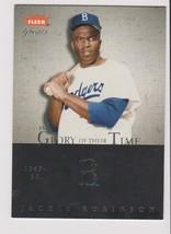 2004 Fleer Great GOT Jackie Robinson card, Los Angeles Dodgers, #/1949 - $1.09