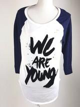American Eagle Womens Juniors Sz XL We Are Young 3/4 Shirt Velvet Lettering EUC - $10.39