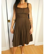 AK ANNE KLEIN Women's Coconut Brown Dress Size 6 NWT  - $79.19