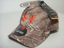 Under Armour Mens Realtree Xtra Camo Snap Back Hat Orange Logos - $25.19