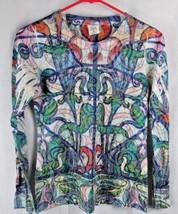 Laura Ashley Active S small women's long sleeve top stained glass tee bl... - $11.99