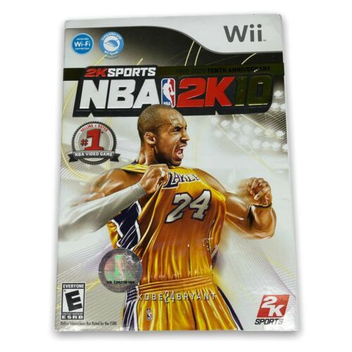 NBA 2K10 Nintendo Wii Game Complete Kobe Bryant w/ Case Manual Disc & Cover MINT - $14.99