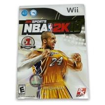 NBA 2K10 Nintendo Wii Game Complete Kobe Bryant w/ Case Manual Disc & Co... - $14.99