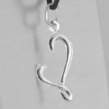 18K WHITE GOLD PENDANT CHARM INITIAL LETTER L, MADE IN ITALY 1.0 INCHES, 25 MM image 2