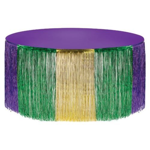 Mardi Gras Metallic Foil Fringe Table Skirt Tableskirt 14 ft x 29 in