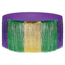Mardi Gras Metallic Foil Fringe Table Skirt Tableskirt 14 ft x 29 in - £10.43 GBP