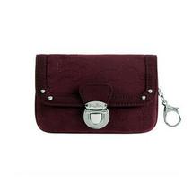 VERA BRADLEY Flap ID Wallet FOB in Wine Red 11848-411 Nylon NWT - $20.78