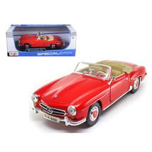 1955 Mercedes Benz 190 SL Red 1/18 Diecast Model Car  by Maisto 31824r - $48.81