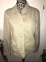 Eddie Bauer Women's Jacket Size L Stretch Lightweight Khaki Button Up Co... - $16.82