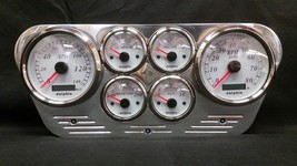 1953 1954 1955 FORD TRUCK 6 GAUGE GPS CLUSTER WHITE - $317.55