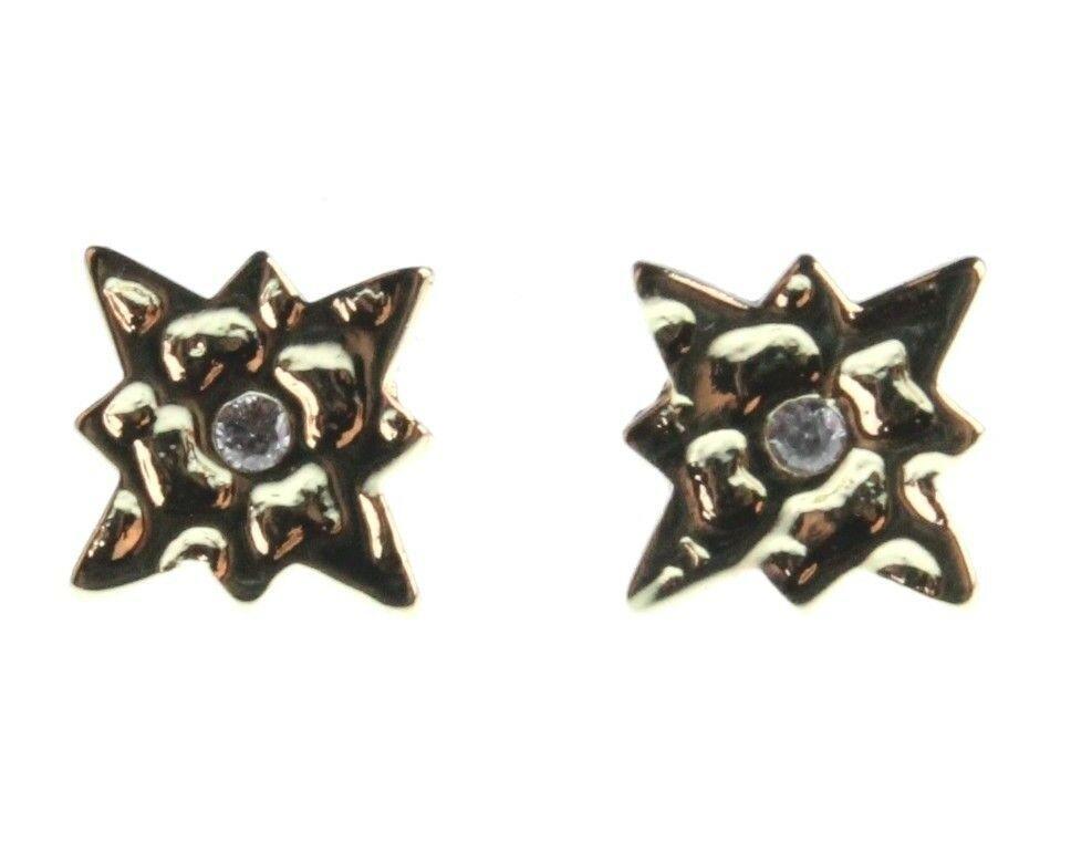 Nuevo Kevia 18K Oro Chapado Circonita Cúbica Cristal Starburst Poste Pendientes