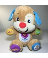 Fisher Price Laugh And Learn Puppy Plush Songs Cute Lovable - $7.92