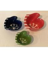 Nesting Ceramic Bowls Hand Painted Mitten Set Winter Snowflake Holiday S... - $29.99