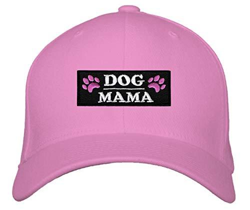 Dog Mama Hat - Womens Adjustable Cap (Pink Snapback)